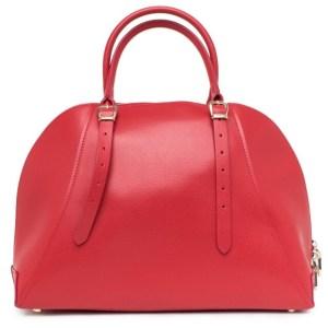 Kožená kabelka Guess Luxe červená 2