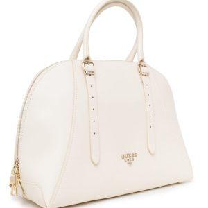 Dámska kožená kabelka Guess Luxe ivory