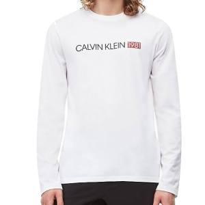 Tričko Calvin Klein LS Crew Neck 1981 NM1705E biele