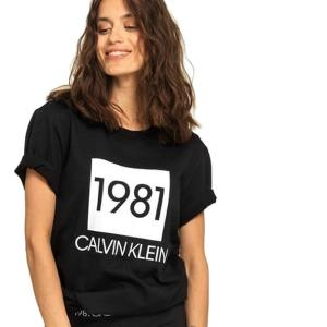 Tričko Calvin Klein SS Crew Neck 1981 Bold čierne