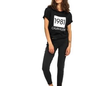 Tričko Calvin Klein SS Crew Neck 1981 Bold čierne.01