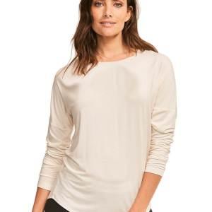 Calvin Klein tričko LS Curve Neck Top 101-2