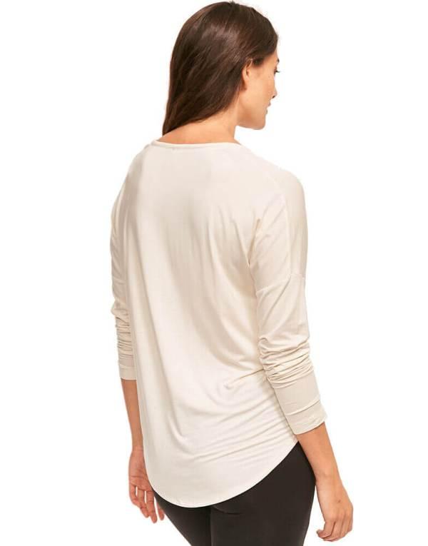 Calvin Klein tričko LS Curve Neck Top 101-3