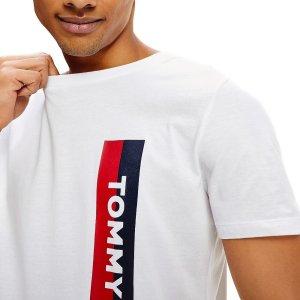 Tommy Hilfiger tričko pánske Crew Neck Logo Tee YCD biele_01