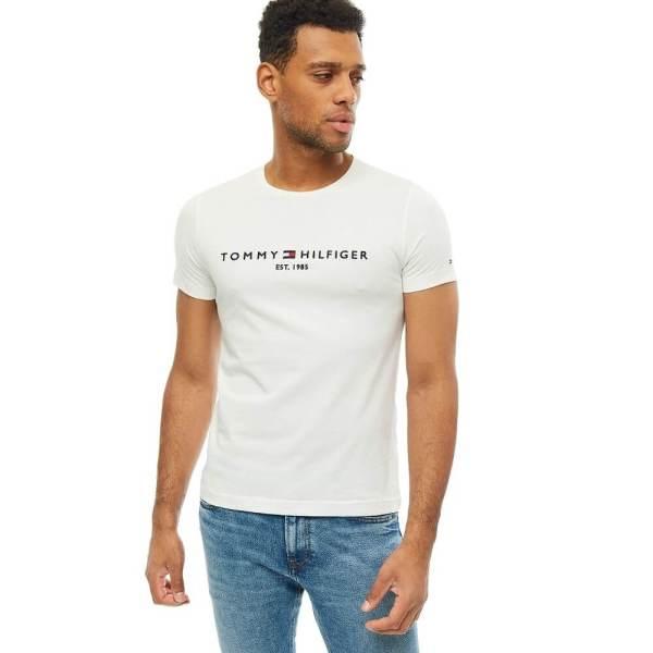 Tommy Hilfiger tričko pánske Flag Logo T-Shirt biele 118