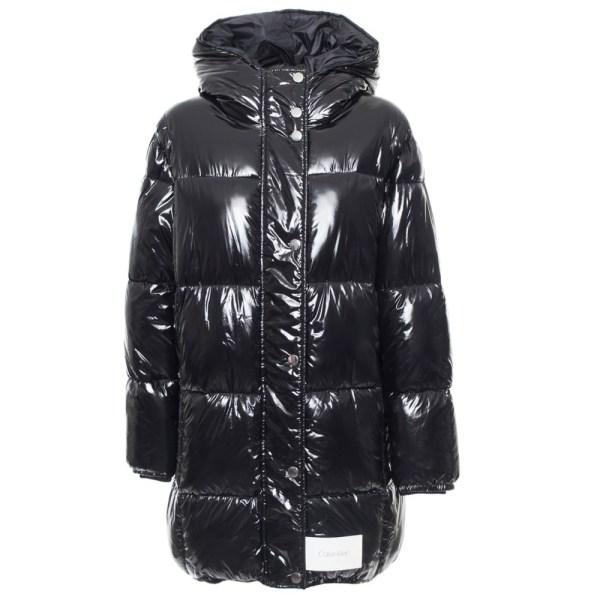 Calvin Klein kabát dámsky páperová bunda Puffer Down Coat čierny