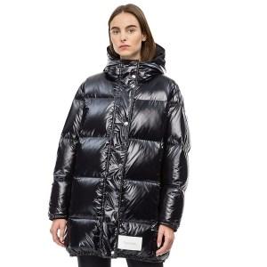 Calvin Klein kabát dámsky páperová bunda Puffer Down Coat čierny 01