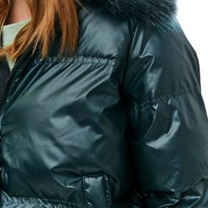 Tommy Hilfiger bunda dámska zimná Quilted Bomber smaragdová zelená 03a