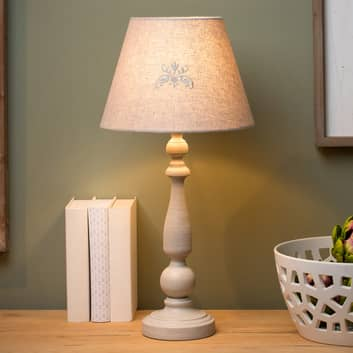 rustic table lamps in country cottage