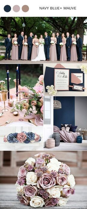 Navy + Blush Colour Palette