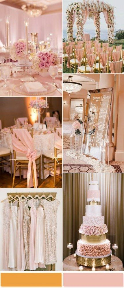 Blush + Gold Colour Palette