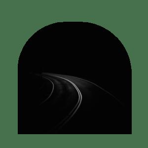 Trust in the darkness. Dark road.