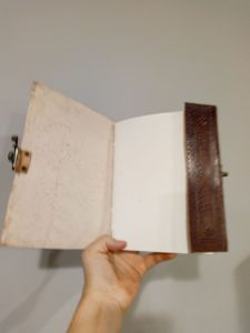 Open journal blank page