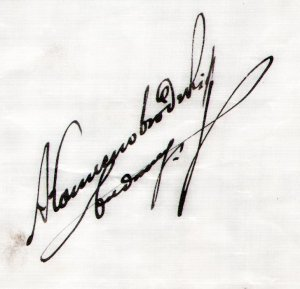 autograf Alfreda Kamienobrodzkiego