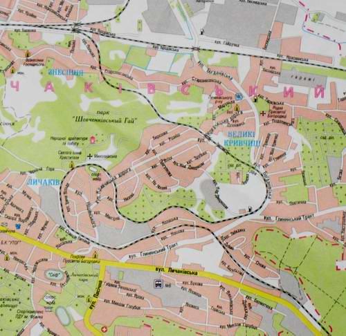 Kolej Podzamcze - Łyczaków na mapie