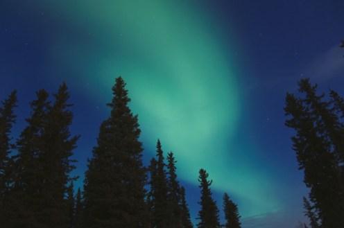 aurora in the cobalt sky