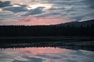sunset colors over ester dome