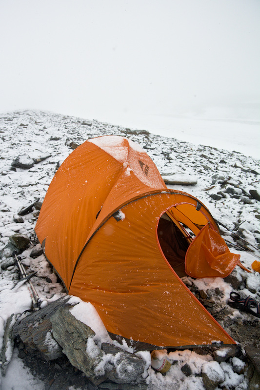 May snow on the Canwell Glacier
