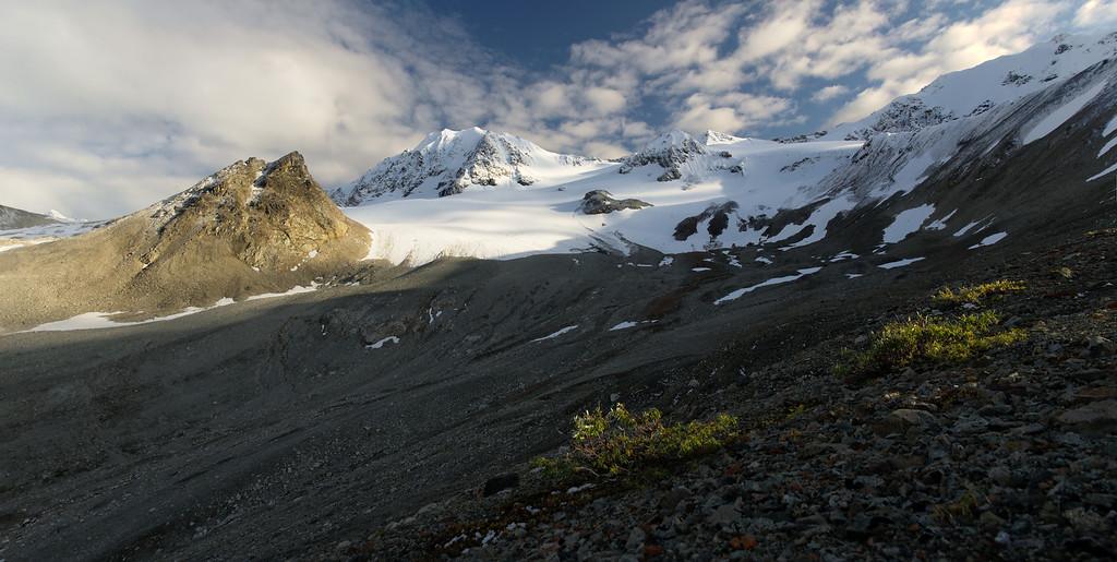 Beautiful view of the Rainbow Basin and McCallum Peak