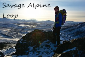 Hiking photos of the Savage Alpine Loop trail in Denali National Park in winter.