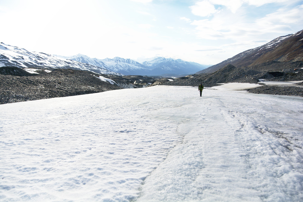 Hiking up the Canwell Glacier