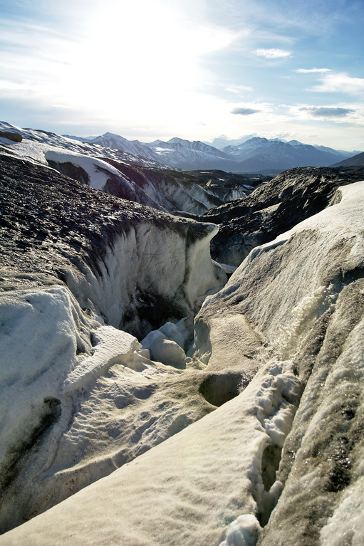 Another ice canyon on the Canwell Glacier