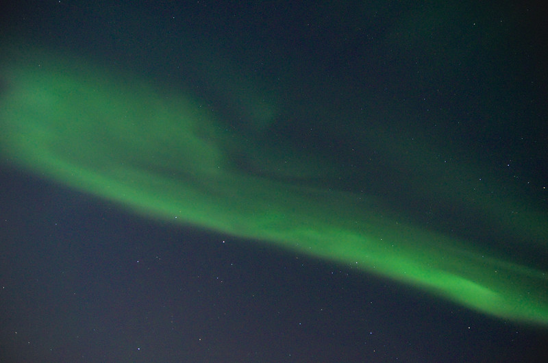 A benefit to living in the far north is getting to watch the northern lights pass directly above you
