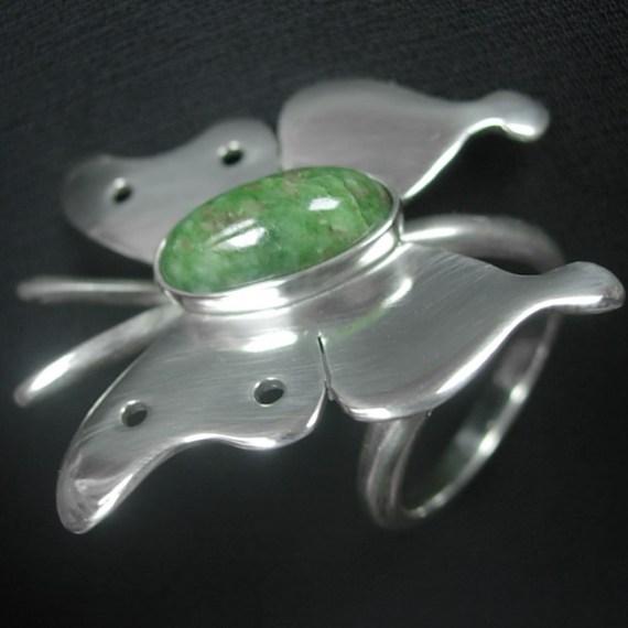 Butterfly Birthstone Ring
