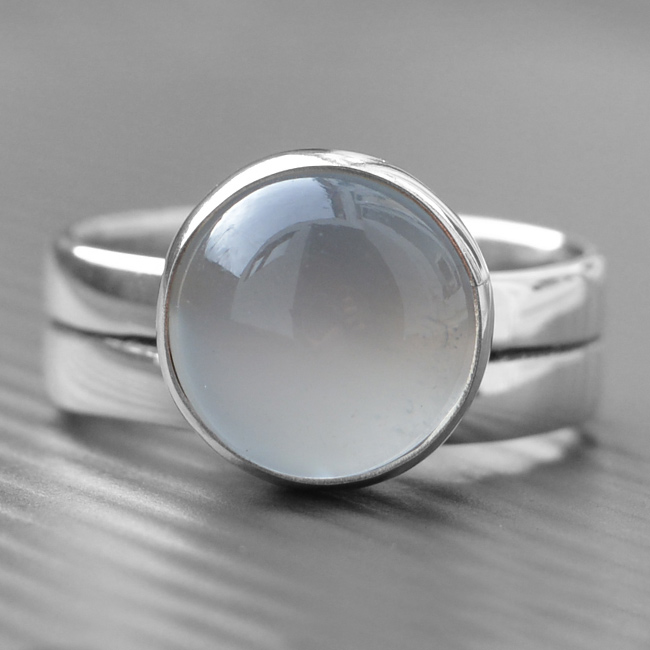 Moonstone Engagement Ring Lwsilver Handmade Jewellery