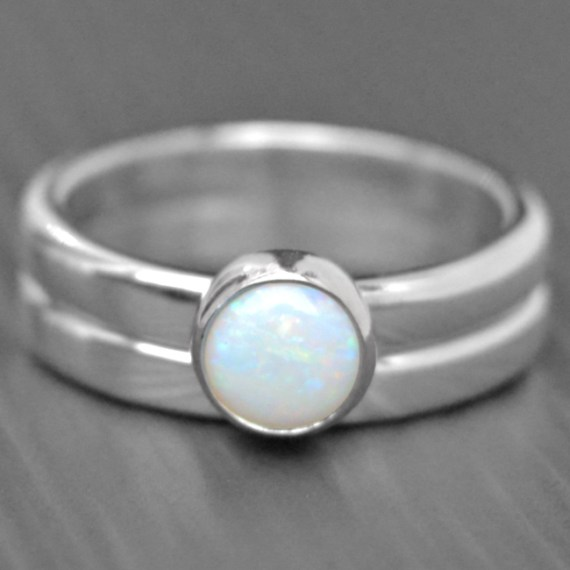 Opal Engagement Ring