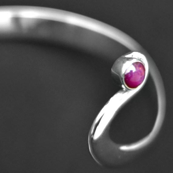 Ruby garnet bangle