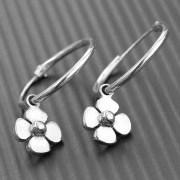 Daisy Earrings Hoop