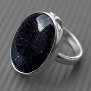 Blue Goldstone Ring