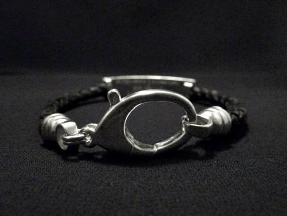 Leather ID Bracelet
