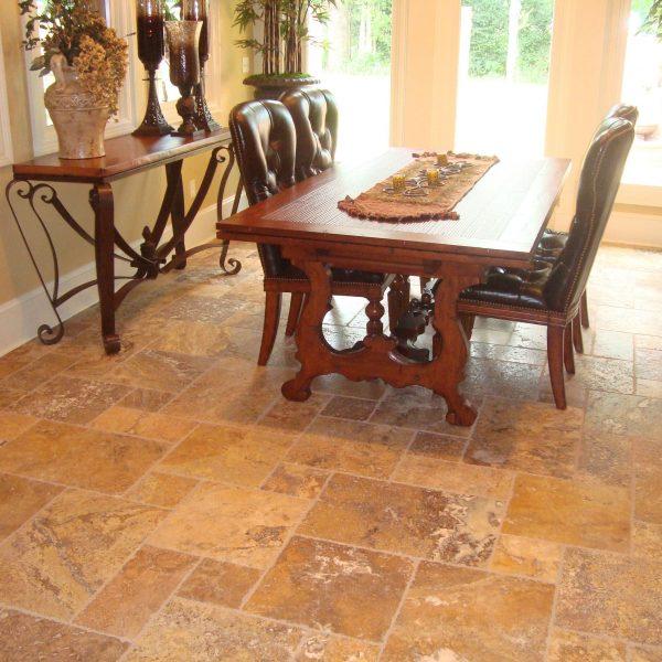 gold french pattern travertine tile