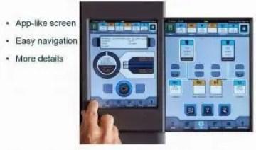 Mão apertando botão do painel de impressora 3D. Software usado para configuração da mesma aparecendo na imagem.
