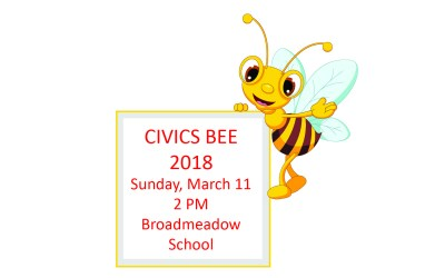 2018 Civics Bee Save the Date