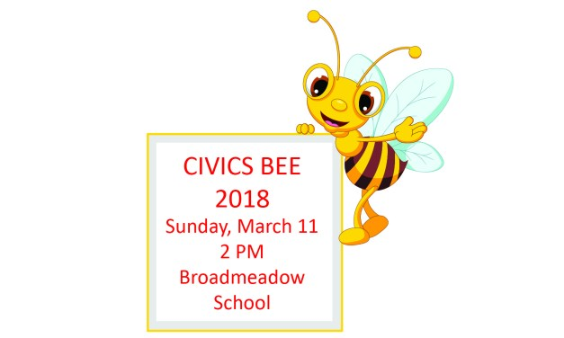2018 Civics Bee Save the Date