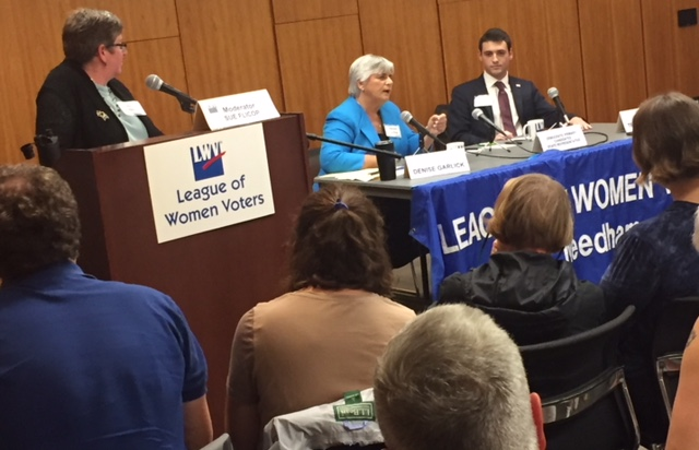 Candidates Rep. Denise Garlick and Mr. Ted Steinberg