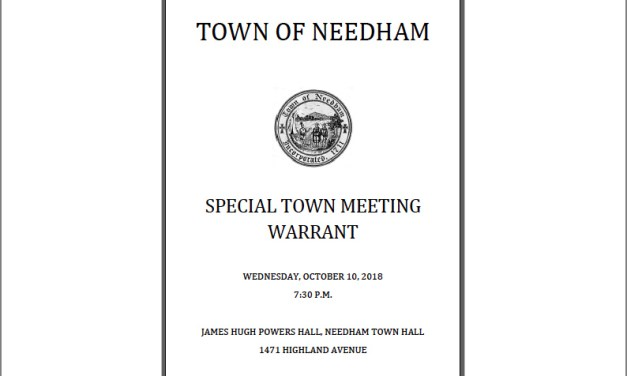 Warrant Meetings for October Special Town Meeting
