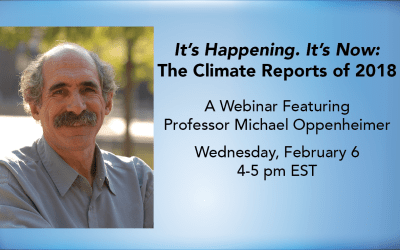 Webinar: Oppenheimer Discusses Climate Reports