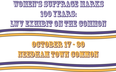 Women's Suffrage Exhibit on Needham Common