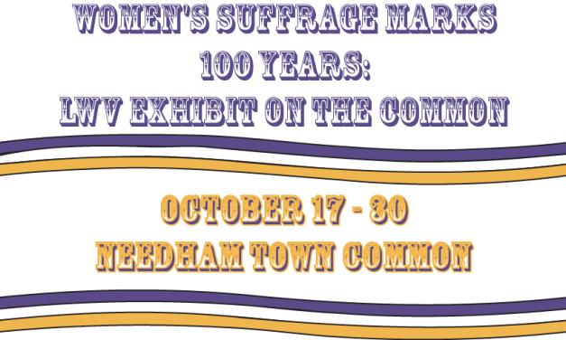 Women's Suffrage Exhibit on Needham Common
