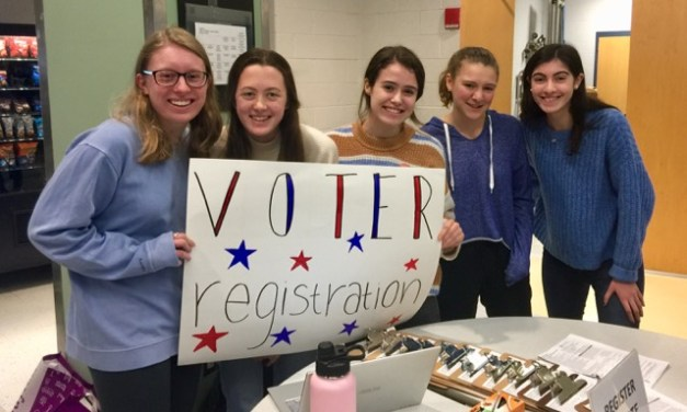 Needham High LWV Club Registers 64 Voters