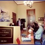 League Members visit the office of Senator Marco Rubio
