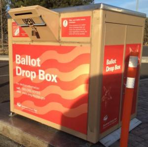 Oregon voter information: ballot drop box