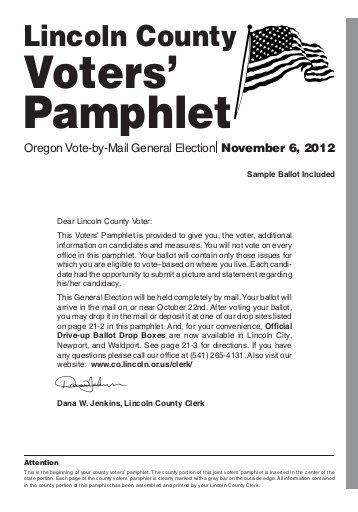voter information: sample  pamphlet