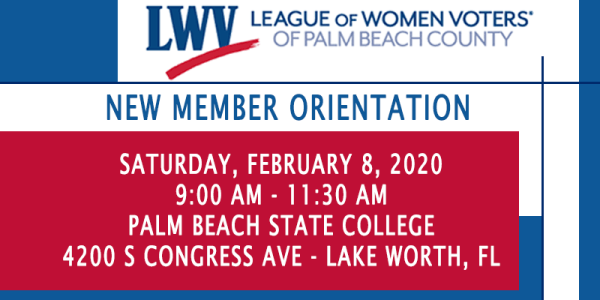 2020 New Member Orientation- FEB