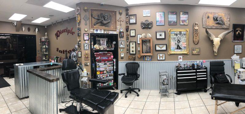 disciple tattoo interior shop