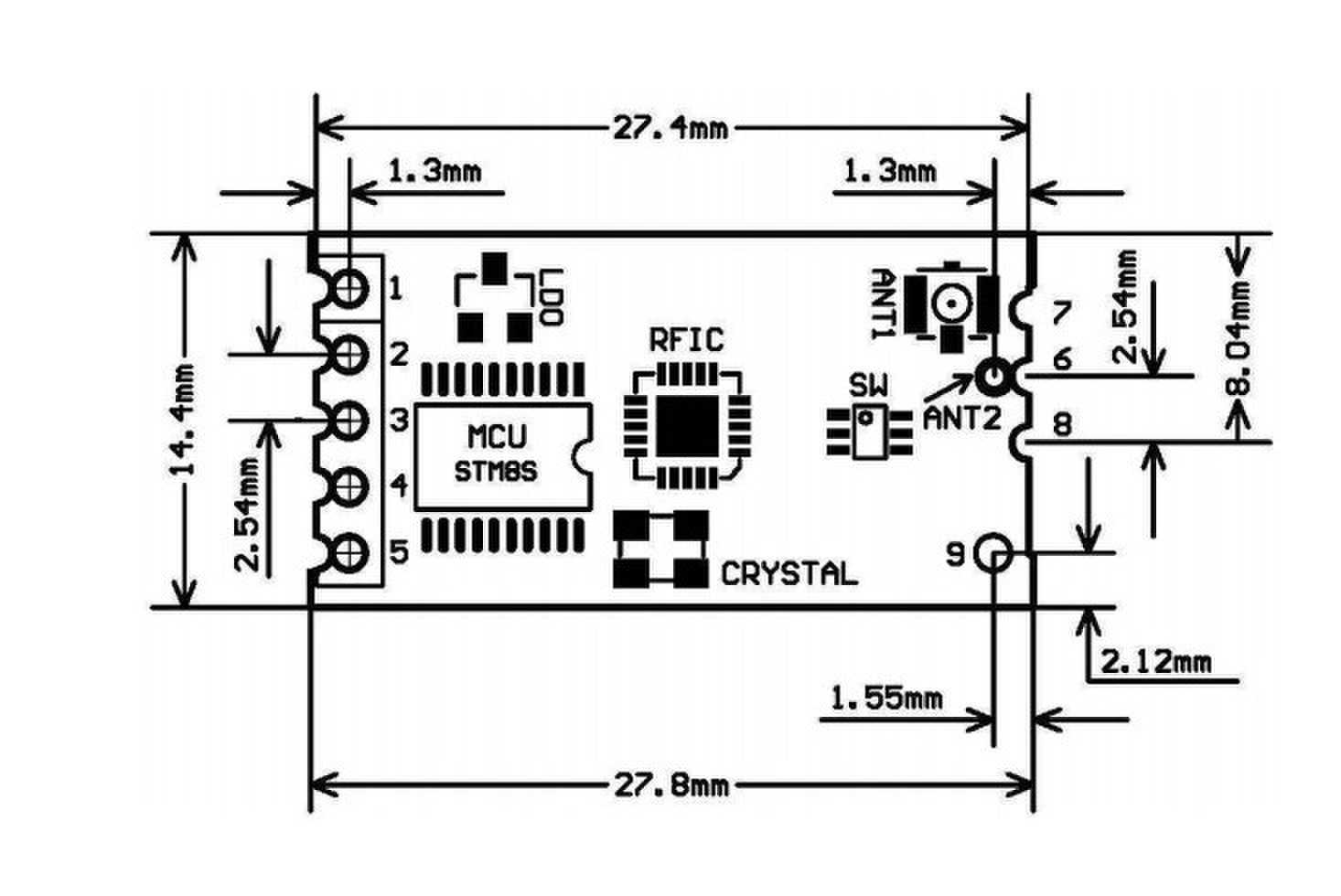 Hc 12 433 Low Power Wireless Serial Module Replacement M Bluetooth Communication Distance